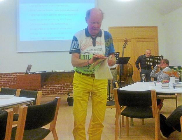 Anders Barfoed havde et par muntre historier med. Privatfoto