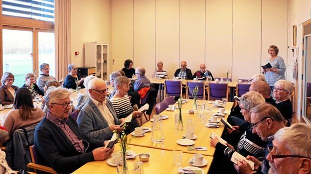 Omkring 30 tilhørere havde fundet vej til arrangementet. Foto: Allan Mortensen Allan Mortensen