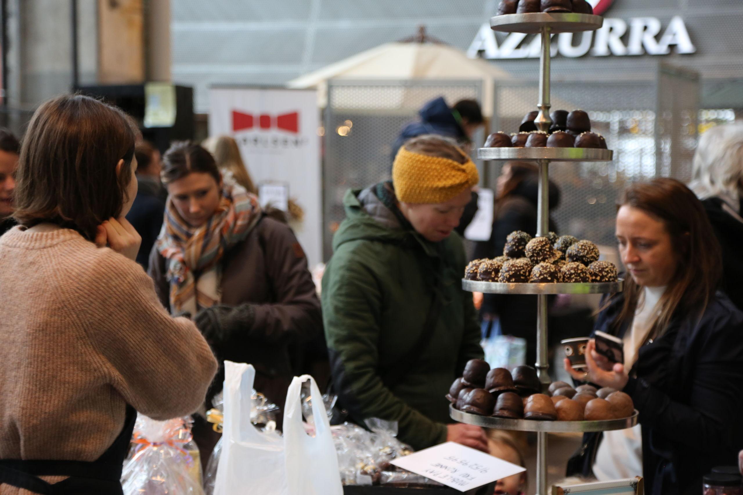 Der er masser af lækkerier til påskebordet på markedet - også chokolade. Foto: Nordkraft Event