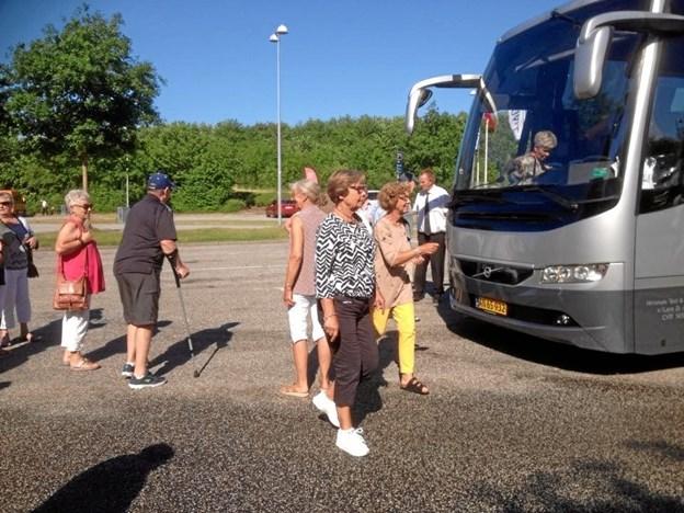 Skagen Efterløn og Pensionistklub på besøg ved Gl. Estrup Landbrugsmuseum.Privatfoto