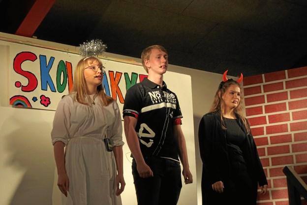 8. klasserne opførte en musical for en fyldt hal i Stenum til skolefest. Privatfoto