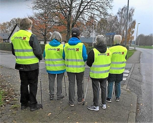 Jutlander Bank har sørget for damernes synlighed i morgentrafikken. Foto: Gert Sørensen Gert Sørensen
