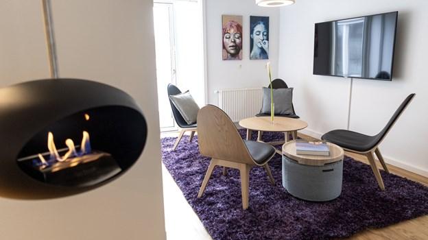 Suiterne har loftshængte biopejse fra Aalborg-firmaet LE FEU. Foto: Laura Guldhammer