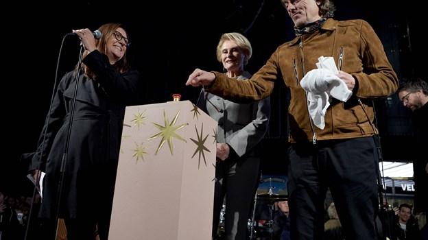 Klar til nedtælling: Fra venstre stormagasinchef Anja Kibsgaard, Karin Salling og Peter A.G.