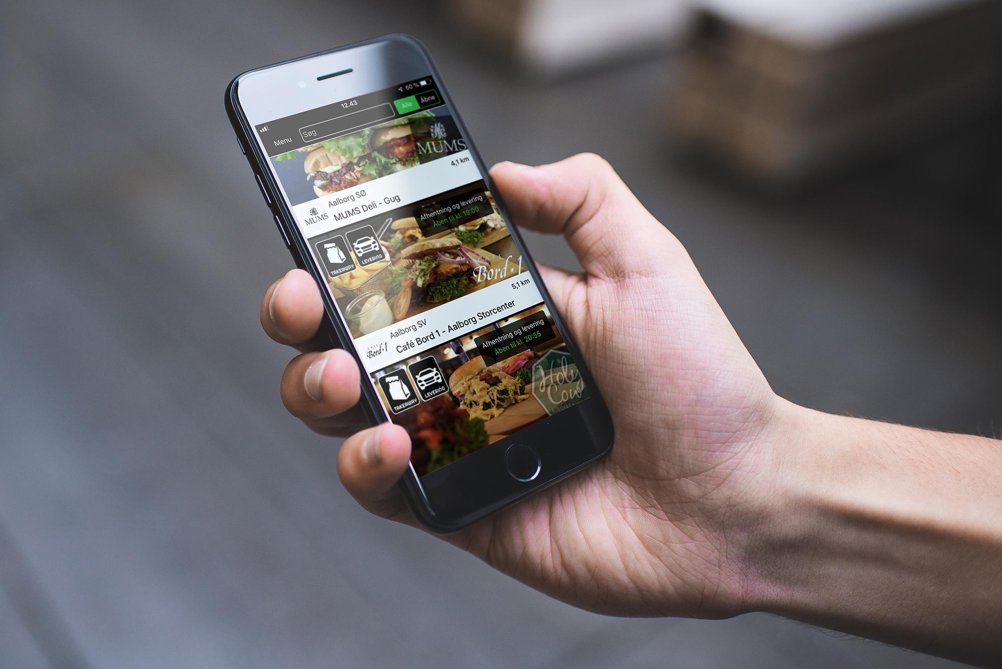 Her ses Waiteer-appen, der hjælper med takeaway fra restauranter og cafeer, PR Foto