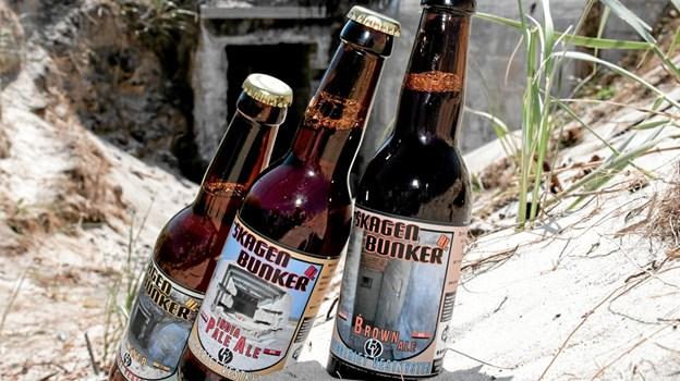 En pilsner, en India Pale Ale og en Brown Ale er tre nye øl fra Bryggeriet Vestkysten. Foto: Peter Jørgensen Peter Jørgensen