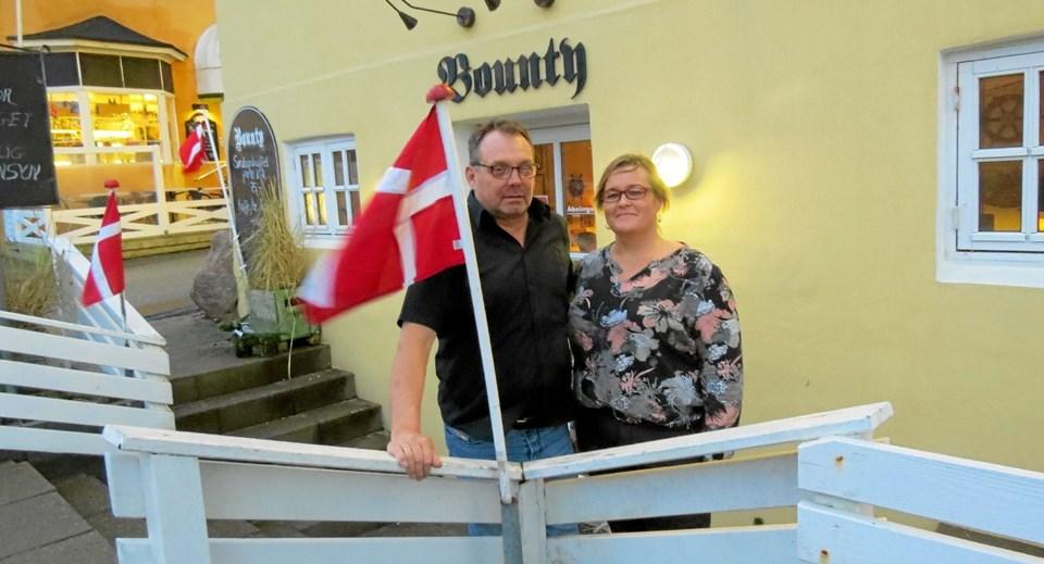Kristian Kjærgaard Larsen og Pernille Hedegaard (på fotoet) overtog i foråret Bodega Bounty sammen med Anders Hedegaard. Foto: Kirsten Olsen
