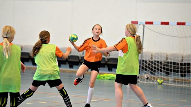 Håndboldskolen i Brønderslev Hallerne var for børn i alderen 8-13 år.Foto: Henrik Louis HENRIK LOUIS