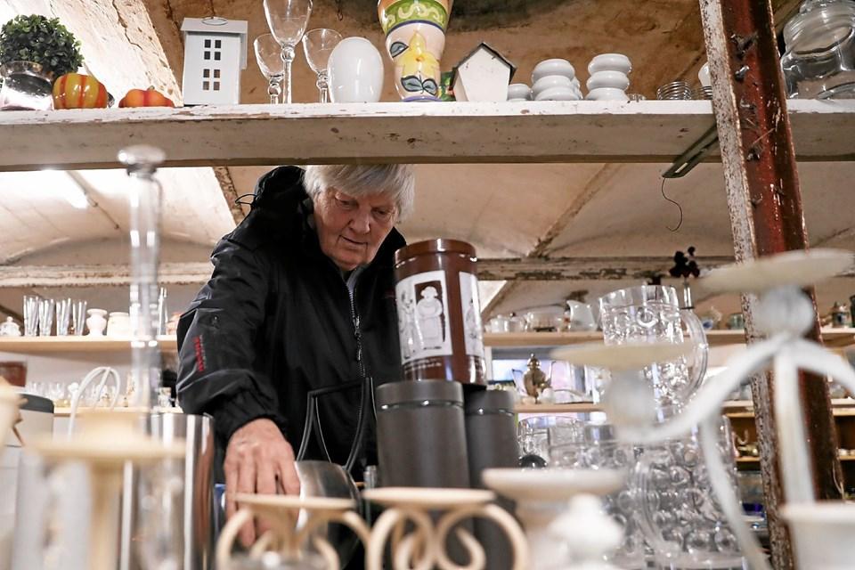 KFUM-spejderne i Ulsted havde søndag inviteret til loppemarked. Foto: Allan Mortensen
