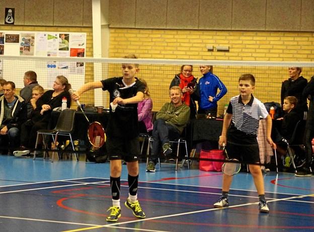 Brødrene August og Laurits Bonde Sørensen i gang med deres i kamp. Foto: Michael Søndergaard
