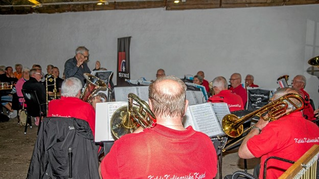 Der var masser af messingmusik, da Brass Band Aarhus gik i gang. Foto: Mogens Lynge Mogens Lynge