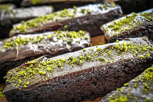 Gurlis hjemmelavede chokoladekage. Foto: Ole Iversen