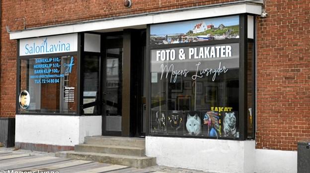 Butikken er beliggende i hovedgaden i Løgstør, Østerbrogade 13 b. Foto: Mogens Lynge