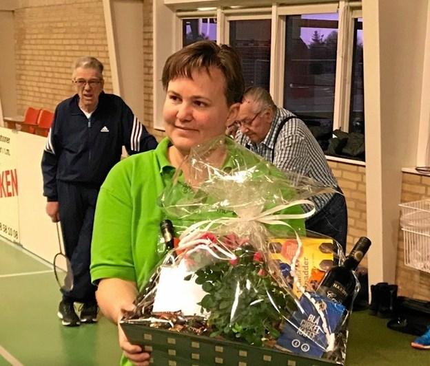 Hanne Jellesen skifter nu badmintonbolden ud med en bowlingkugle. Foto: Sten Andersen.