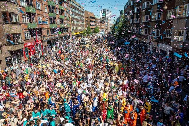 Også DSB kan mærke, at Aalborg Karneval vokser år for år. Arkivfoto: Laura Guldhammer
