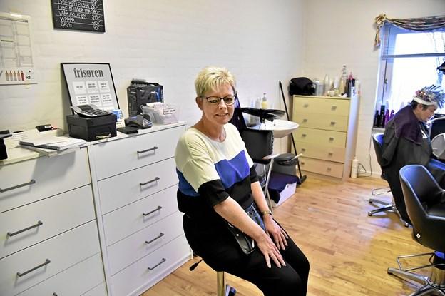 Der bliver meget mere plads til Dorthe Olesen og kunderne, når det nye Klippestuen åbner i starten af det nye år. Foto: Ole Iversen