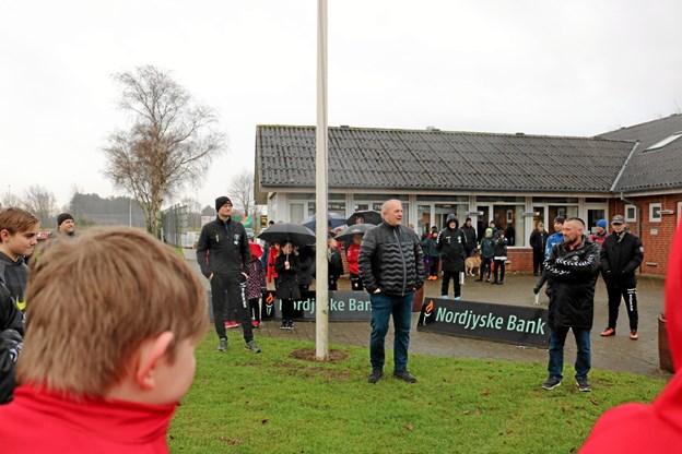 Michael Koch Sørensen og Per Pedersen fra ungdomsudvalget byder velkommen til en ny og spændende sæson. Foto: Tommy Thomsen Tommy Thomsen