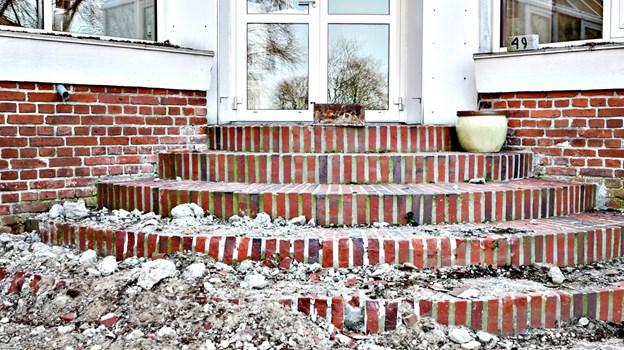 Nedrivningen gik i gang i sidste uge. Foto: Bent Bach BENT BACH