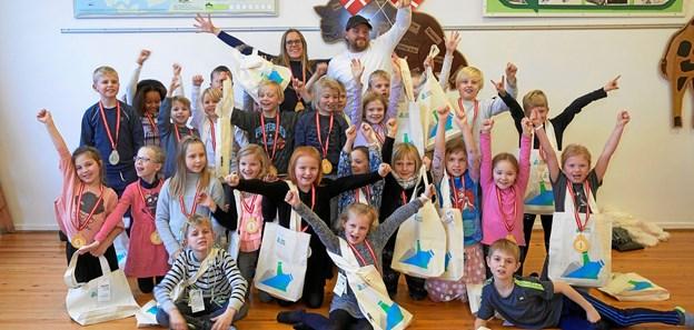 Årets panthelte 2017 fra anden klasse på Nors skolen ved Thisted. PR-foto.