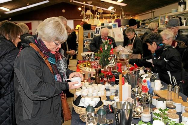 Der var virkelig gang i handlen. Foto: Flemming Dahl Jensen