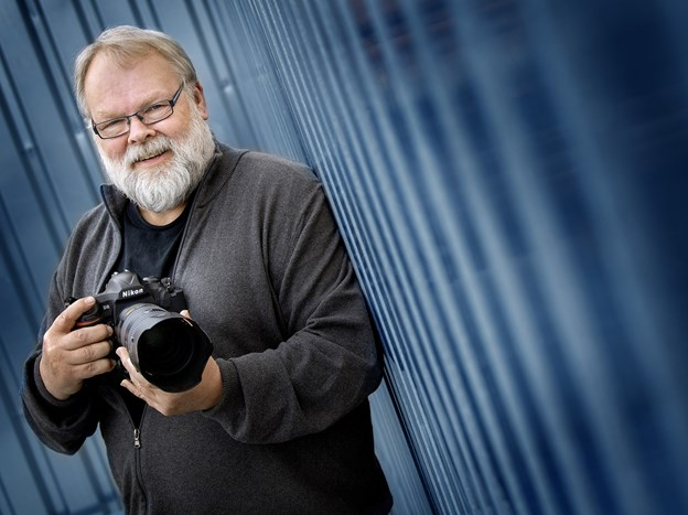 Pressefotograf Henrik Louis Simonsen - 25 år på NORDJYSKE Medier. Foto: Lars Pauli