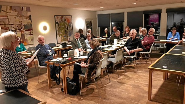 Cirka 25 af Asylvenner Jammerbugts 70 medlemmer deltog i generalforsamlingen.Privatfoto