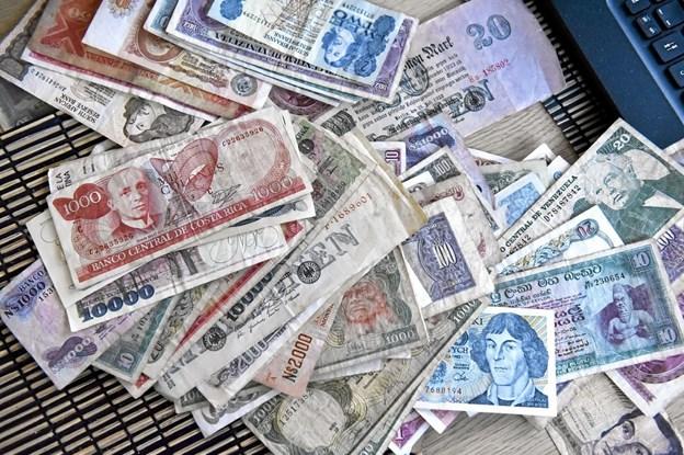 Samlingen består af sedler fra hele verden. Foto: Ole Iversen Ole Iversen