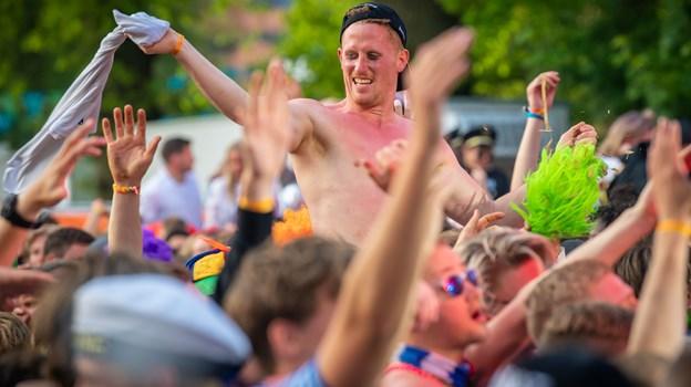 Der var fuld smæk på festen i Kildeparken til det sidste. Foto: Martin Damgård
