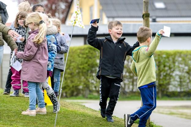 Sidste år deltog 0. klasseeleverne fra M. C. Holms Skole i sprogfitness, som Morsø Folkebibliotek stod bag.Arkivfoto: Bo Lehm © Bo Lehm