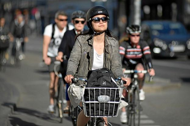 Det er nu Vi cykler til arbejde-kampagnen afventer startsignalet. Foto: Cyklistforbundet/Marie Hald