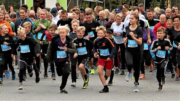 400 motionister var til start ved Dronninglund-løbet 2018. Privatfoto