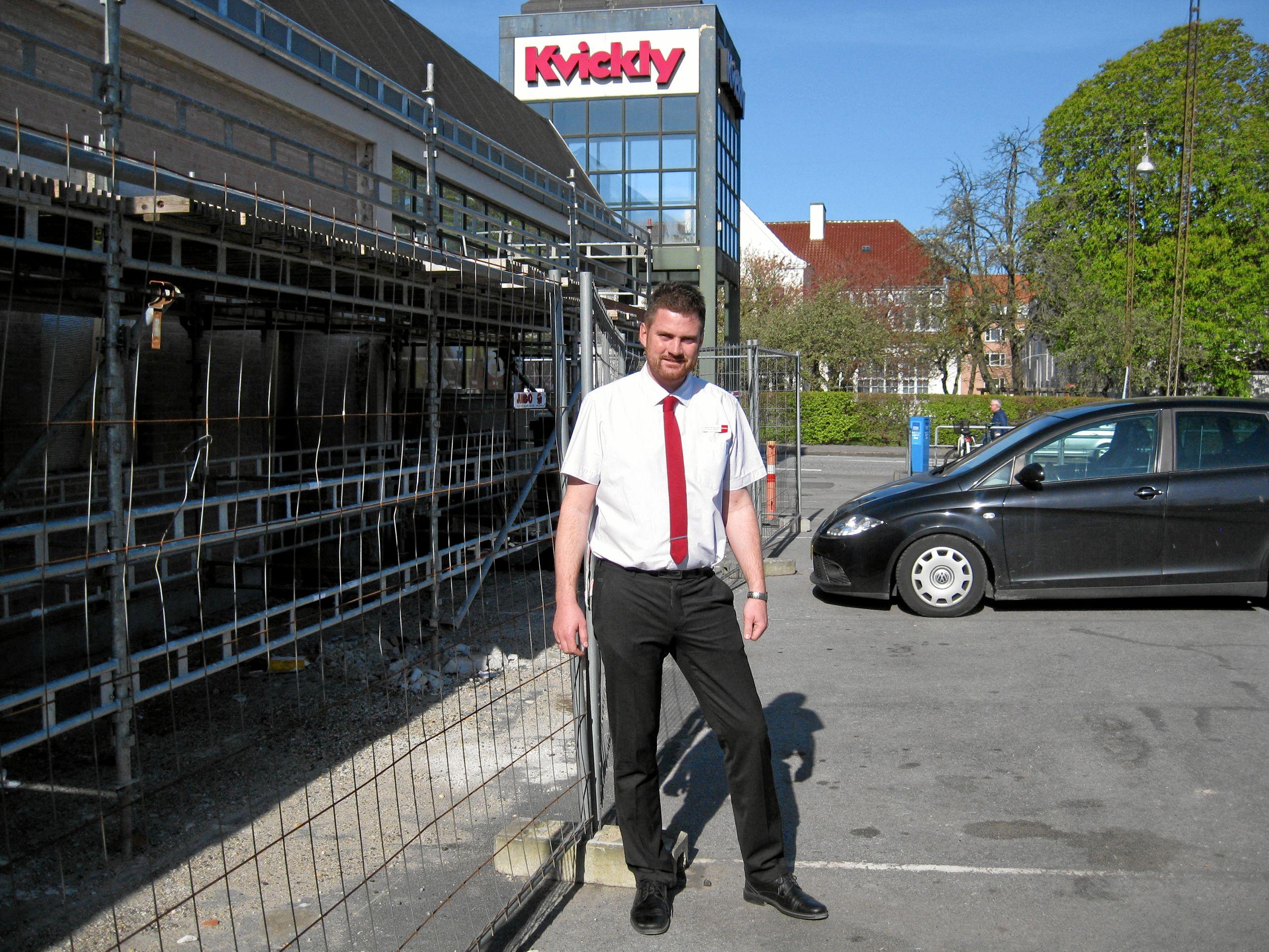 Tommy Vestergaard kan glæde sig over, at hans arbejdsgiver, Kvickly har givet ham prisen som årets varehuschef. Arkivfoto