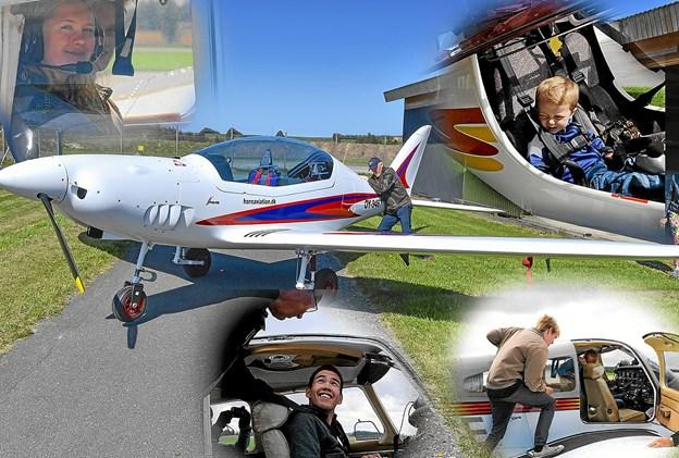1. juli inviterer Thisted Flyveklub til åbent hus og infodag om at blive fritidsflyver.Fotos: Anne Mette Welling og Ole Iversen