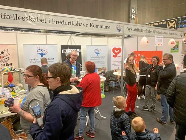 Psykiatrifællesskabet i Frederikshavn Kommune deltog for første gang i Forårsmessen.Privatfoto