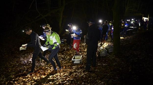 For to år siden deltog knap 300 deltagere fra både Danmark, Norge og Sverige i natløbet under Nordjysk 2-Dages. I år foregår løbet 15. til 17. marts i Tranum Klitplantage. Arkivfoto: Claus Søndberg