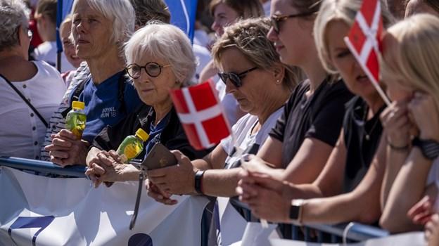 Tilskuerne var mødt talstærkt frem i det gode vejr. Foto: Lasse Sand