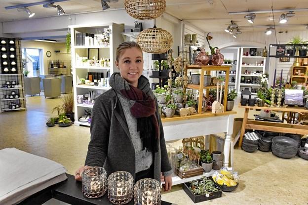 Betina Hingeberg har fået en flot start med Vorupør Lys og Blomster, som hun har overtaget. Foto: Ole Iversen