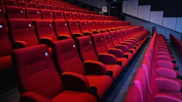 De nuværende biografstole blev sat ind i Hjørring BioCenter i 2015 - nu sælges stolene efter først-til-mølle-princippet. Foto:  Laura Guldhammer