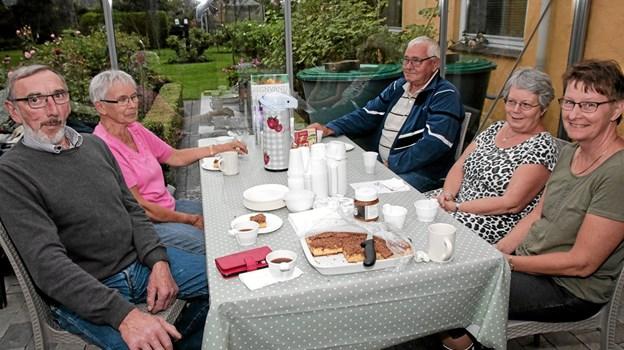 De besøgende kunne nyde haven fra udestuen med en kop kaffe. Foto: Peter Jørgensen Peter Jørgensen