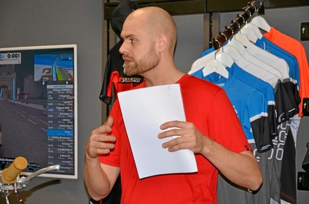 Hasse Kristensen, indehaver af Rold Skov Cykel Shop, er formand for den nye forening. Foto: Jesper Bøss Jesper Bøss