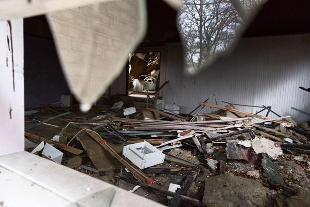 Skovpavillonen i Hadsund på Hobrovej har stået tom i en årrække. Og til stor fortrydelse for genboerne bliver den mere og mere forfalden.  Foto: Matthew Burnett