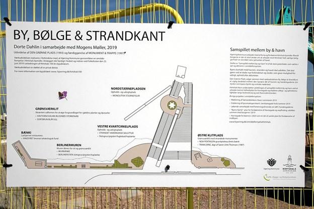 Udvidelse af Den Grønne Plads (1993) og færdiggørelse af monument og trappen, er en del af de mange områdefornyelser i Hirtshals. Foto: Peter Jørgensen Peter Jørgensen