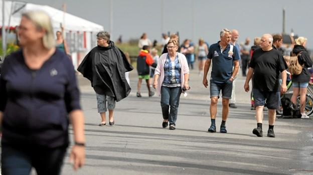 Festlighederne trak mange til havnen i Hou. Foto: Allan Mortensen