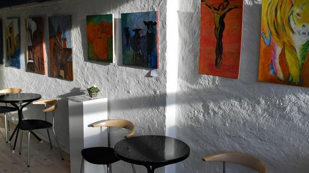 Fjerritslev Kino udstiller ofte i sine lokaler - primært lokale kunstnere. Arkivfoto: Kim Dahl Hansen