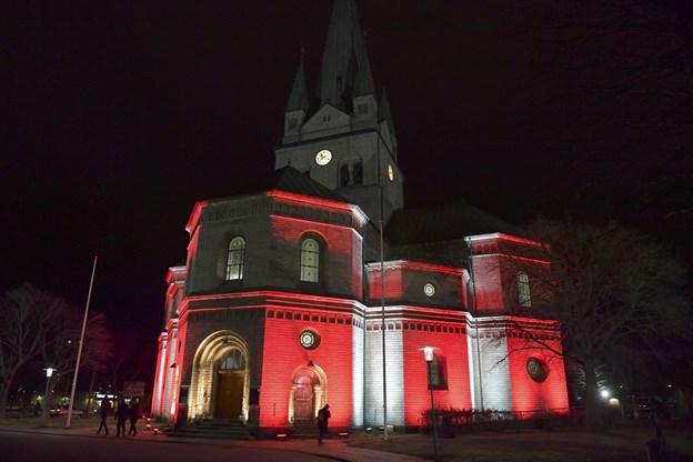 Forskellige farvesætninger skulle fremhæve kirkens detaljer.Foto: Bente Poder