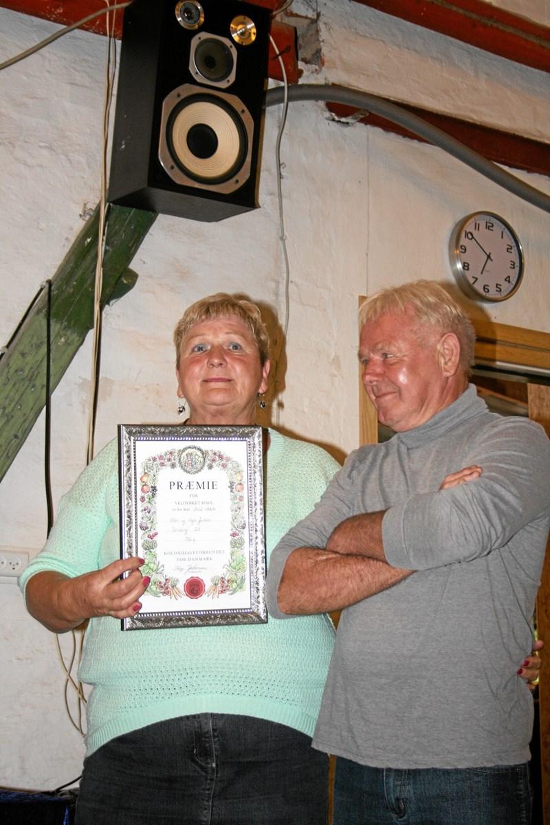 Ellen og Vagn Jensen fik tildelt Nordjysk Jubilæumspromie. Privatfoto