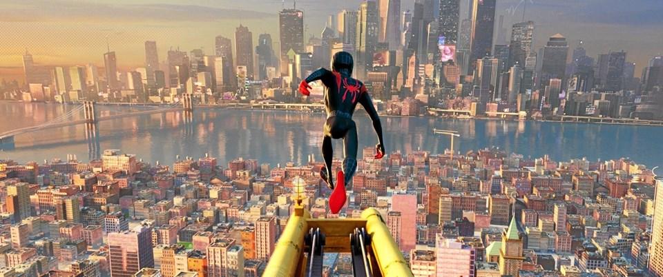 Spider Man i aktion i filmen Into the Sider-Verse. Foto: Hans Jørgen Callesen