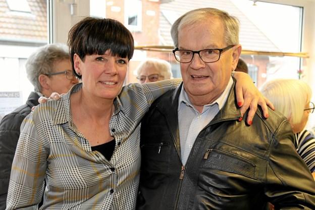 Susanne med sin far, Jørgen Mikkelsen. Foto: Flemming Dahl Jensen Flemming Dahl Jensen