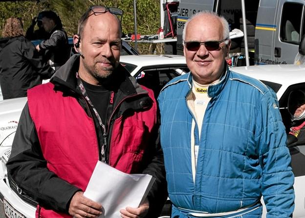 Formand for HAk og løbsleder Brian Andersen og idemanden bag Hill Climb Brian Rasmussen, var ovenud begejstrede for dette arrangement. Foto: Peter Jørgensen Peter Jørgensen