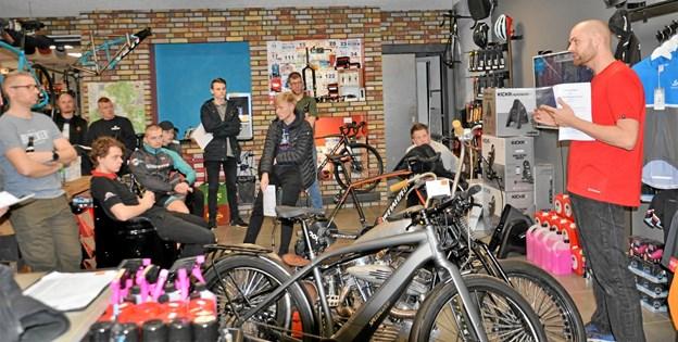Den stiftende generalforsamling foregik i Rold Skov Cykel Shop. Foto: Jesper Bøss